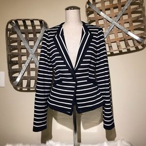 The Limited blue/white stripped blazer